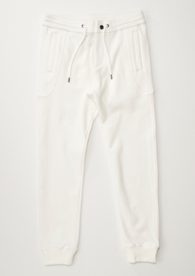 J122/SOLID EASY RIB PANTS の写真